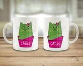 Catus mug, cat pun mug, 1...
