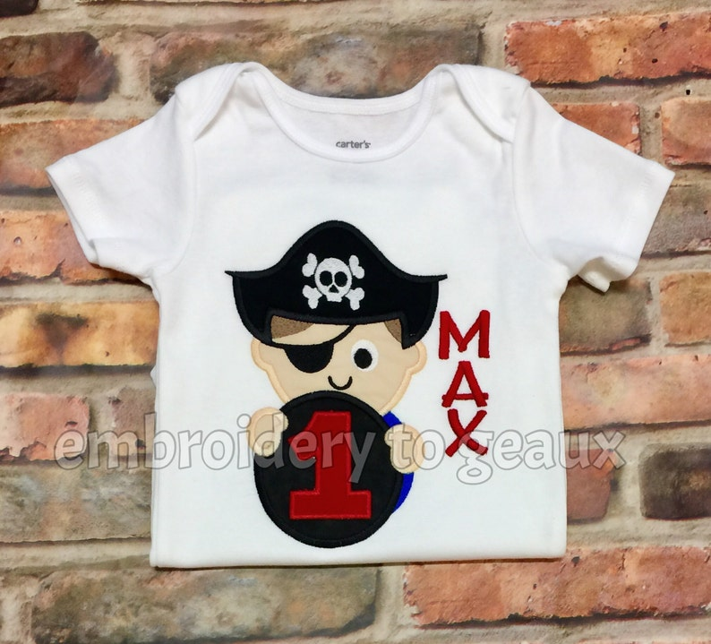d33cc63e Pirate Birthday Shirt Boys Pirate Shirt Toddler Boys | Etsy
