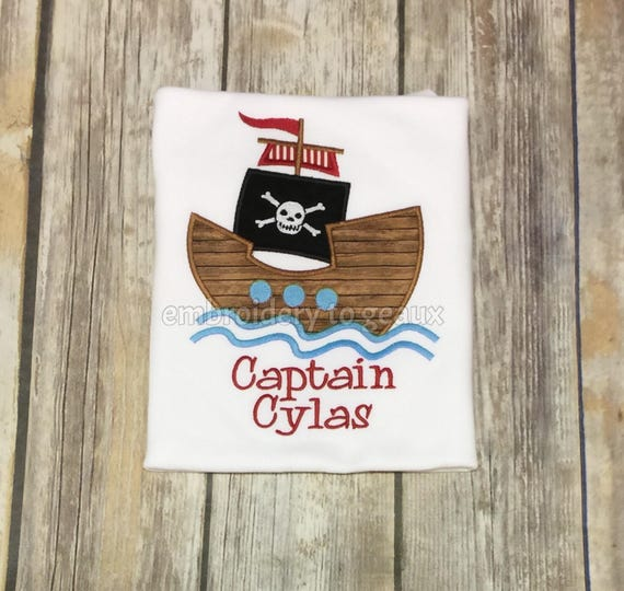 7b6968442ffca Boys Pirate Ship T-Shirt Boys Pirate T-Shirt Personalized