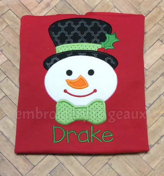 Personalized Snazzy Snowman Boy s T-shirt or Baby  f8006e710