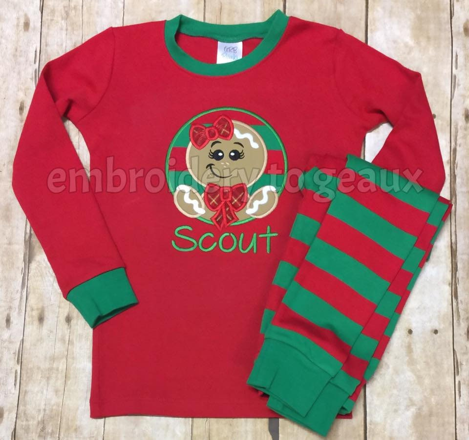 aa682322e Pre-Order Monogrammed Christmas Pajamas Personalized