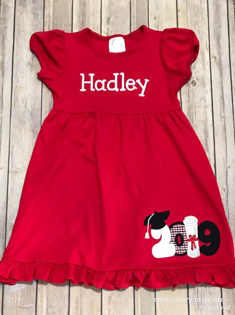 ca9fa6f82a6 Kindergarten Graduation Dress Girls Graduation Dress Toddler