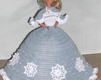 Crochet Fashion Doll Barbie Pattern- #661 CALENDAR DOLL JAN 2009