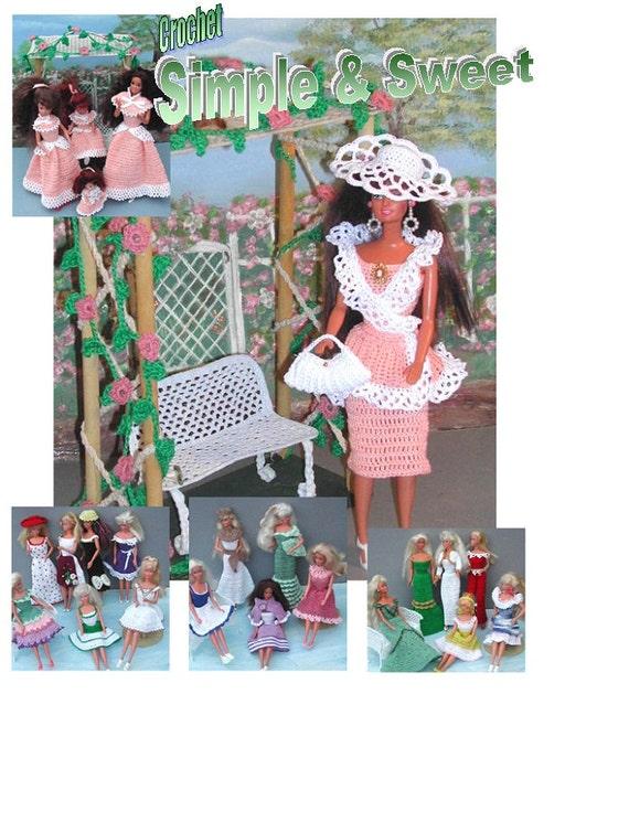 Häkeln Sie Mode Puppe Barbie Pattern 336 Einfach Und Süß Etsy