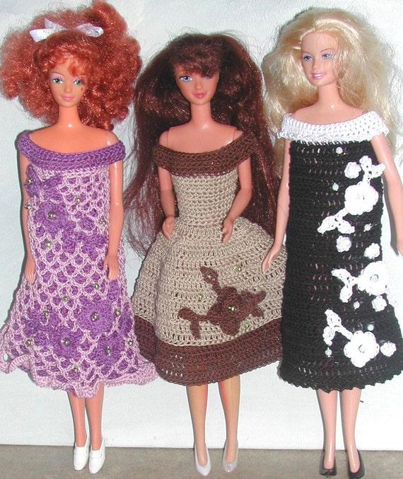 Häkeln Sie Mode Puppe Barbie Pattern 591 Blumen in Hülle   Etsy