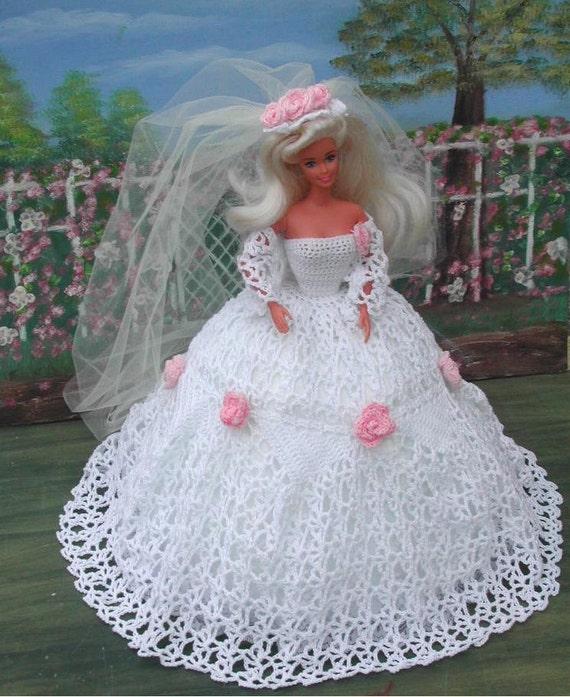 Häkeln Sie Mode Puppe Barbie Pattern 22 Garten Braut | Etsy