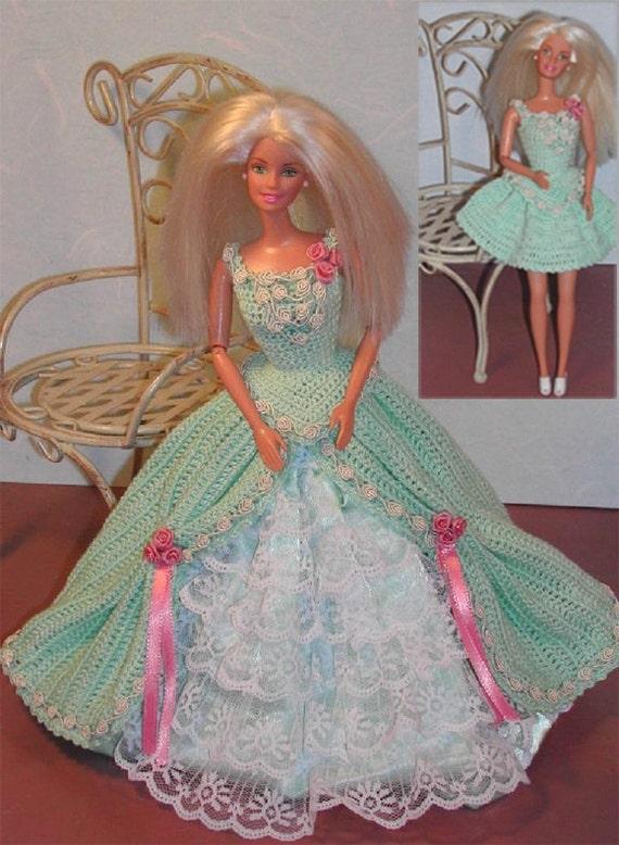 Häkeln Sie Mode Puppe Barbie Pattern 212 Wandelbar In Grün Etsy
