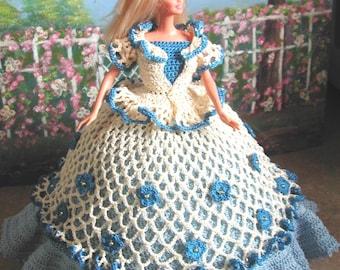 Crochet Fashion Doll Barbie Pattern- #648 CALENDAR DOLL MARCH 2011