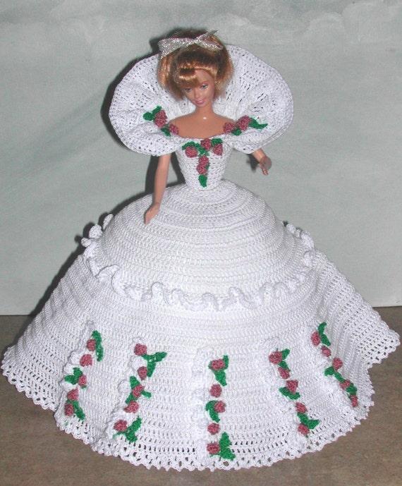 Crochet Fashion Doll Barbie Pattern 666 CALENDAR DOLL JUNE