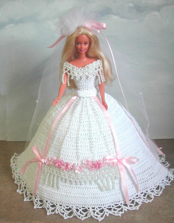 Crochet moda muñeca Barbie patrón 553 hermoso soñador | Etsy