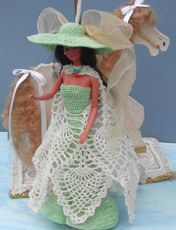 Häkeln Sie Mode Puppe Barbie Pattern 52 ausgefallene Kleid | Etsy