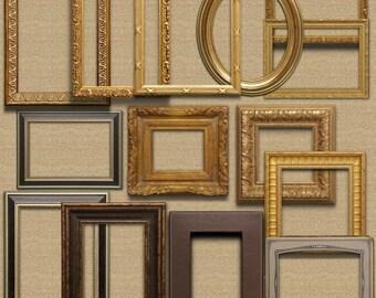 gold ornate picture frames clip art instant download frame clipart picture frame frames printable frame clipart old frame gold frame