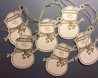 Snowmen Gift Tags, Tags for Presents
