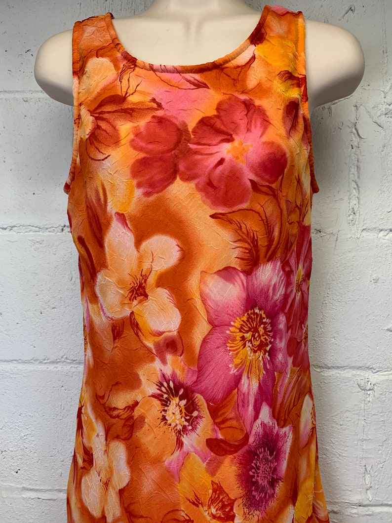Vintage 90s tropics flora sundress by City Triangles Tropical Hawaiian Size Small