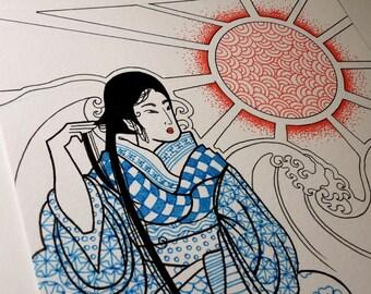 Original Maiko Pen Sketch