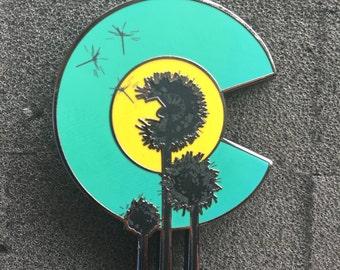 5e811e2cf01 Colorado Dandelion Pin