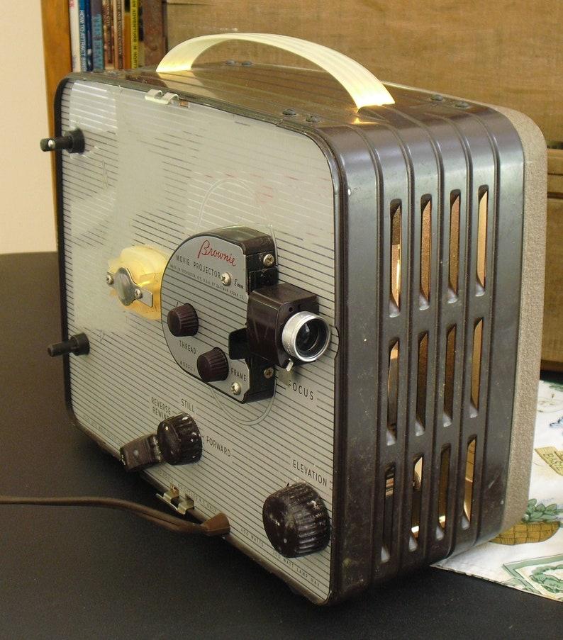 Kodak Brownie 8mm Movie Projector Model 1 In Original Case Works Well Good  Bulb Good Lamp NEaR MiNTY!