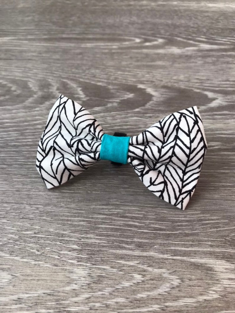 Turquoise Feather Forest Bow Tie