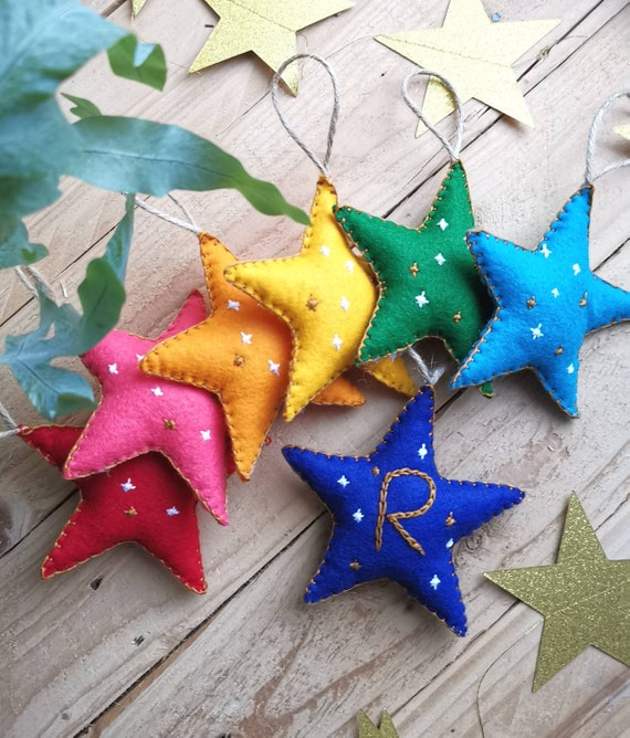 PERSONALISED STAR - Handmade Decoration