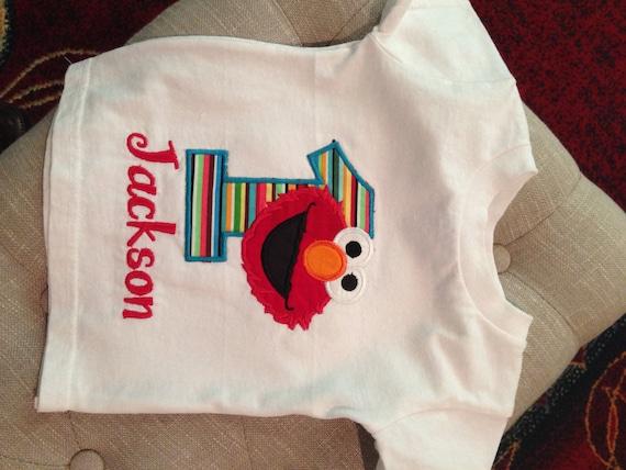 Elmo Birthday Number Tee Shirt