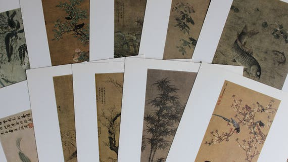 Vintage Art chinois cartes Ming Dynastie 20 x 20 Dynastie couleur Collectables Art Collage journalisation Scrapbooking carterie fournitures 1978 0cfead