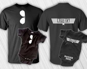 First Father's Day, Father and Son, Father Son Matching Shirts, Maverick And Goose, Fathers Day Gift, Maverick Goose, New Baby, New Dad Gift