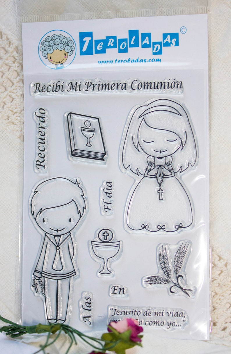 COLLECTION RECEIVED COMMUNICATION Set acrylic stamps clear image 0