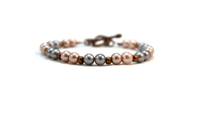 Glass Pearl Bracelet  Glass Pearl Beads  Pearl Bracelet  image 0