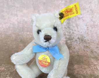 Vintage miniature Steiff teddy bear, mohair teddy bear, mint