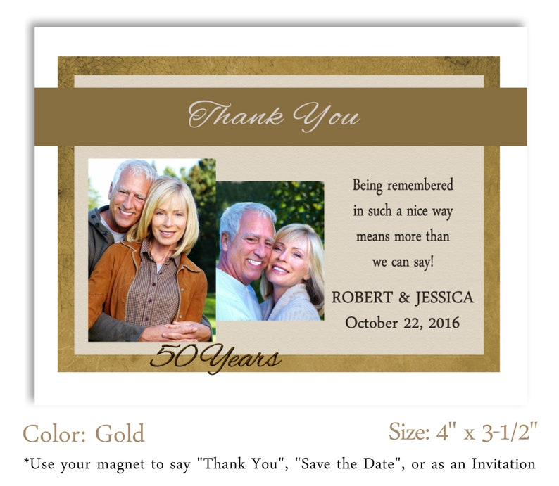 25th Thank You Personalized Magnets Save the Date #APM22 Party Favor 50th Anniversary Photo Magnet Invitation Celebration