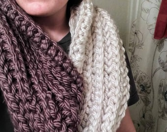 Lavender and Cream Infinity Scarf