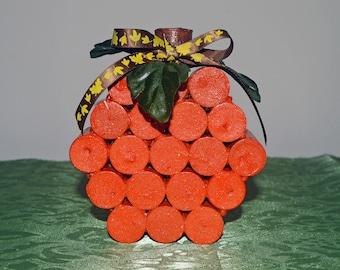 Pumpkin Decor, Wine Cork Pumpkin, Fall Pumpkin, Thanksgiving Pumpkin, Ready to Ship!