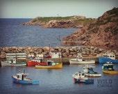 Boat Photography, Fishing Village, Coastal Wall Decor, Beach Art, Nautical Decor, Beach House Decor, Canada Photography, Canadian Seller