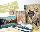 Upgrade option -Ready to hang art, Wood Wall Art, Nature Photography,Inspirational Quote, Wanderlust Art, Photo Art Block, Nature Lover Gift