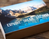 Nature photography, Print on wood, Photo Art Block, Mountain Photography, Nature Lover Gift, Rustic Home Decor, Wanderlust Art Print