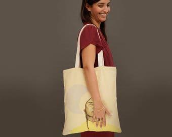 canvas bags, Printed cotton tote bags, Canvas tote bag, shoulder bag, market bag, beach bag, vegan tote bag, vegan bag. african woman