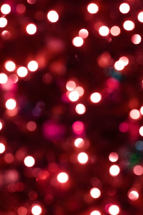 Holiday Christmas Background.Red Christmas Lights Backdrop Holiday Party Background Photography Photo Booth Prop Wedding Newborn Portrait Multiple Sizes