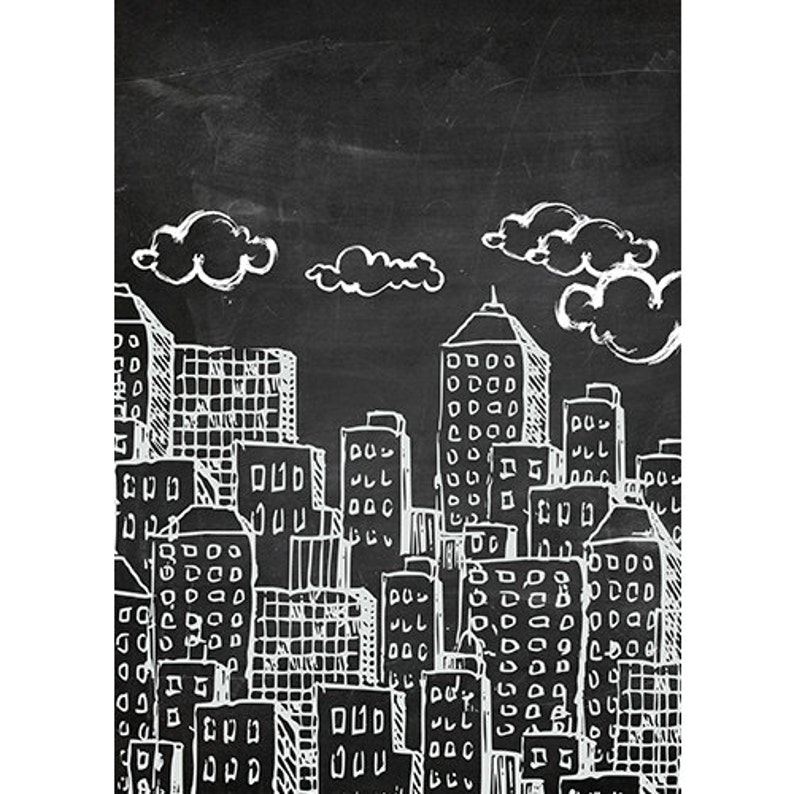 Multiple Sizes Available Durable Fabric Backdrop Super Hero Chalkboard City Background Newborn Children Party Portable Foldable Washable