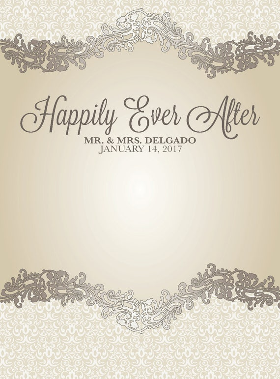 On Sale Custom Wedding Backdrop Elegant Happily Ever After Background Photo Booth Step And Repeat Bannersign Bridal Shower Vinyl Or Fabric