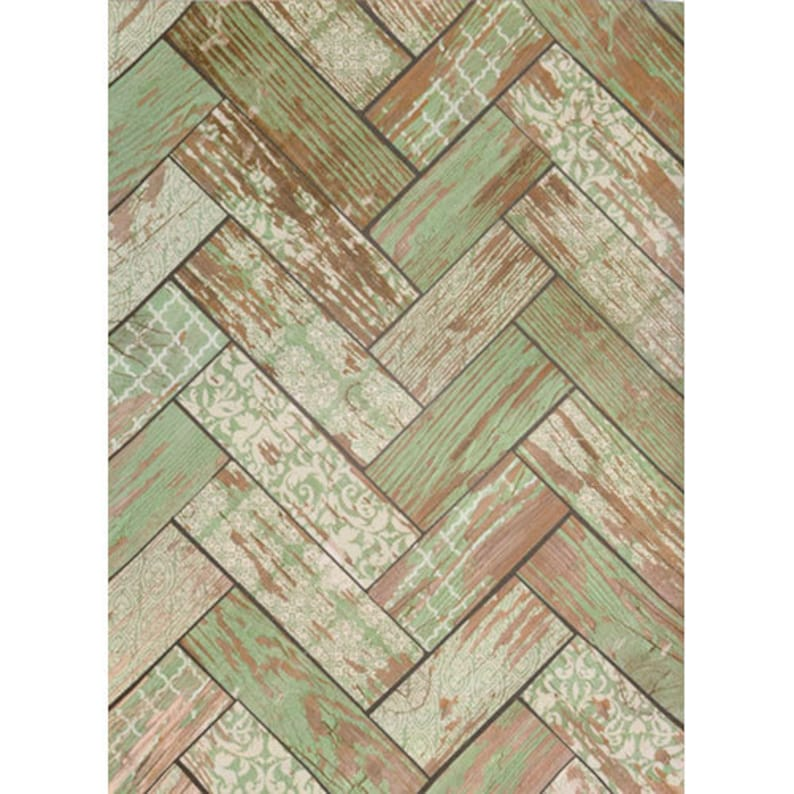Multiple Sizes Available Painted Wood Floor Backdrop Distressed Sage Green /& White Herringbone Pattern Wood Planks Photo Background prop