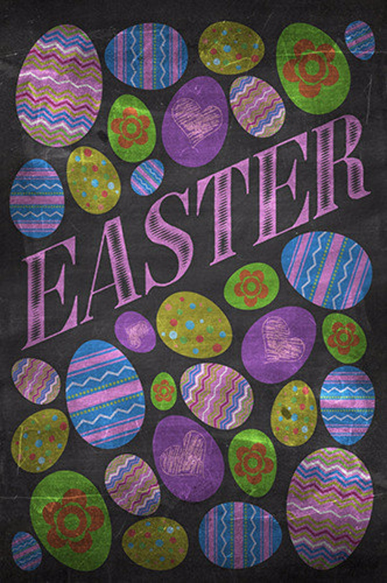 Multiple Sizes Fabric Backdrop Pastel Chalkboard Easter Eggs Floor and Wall Photography Background Washable Material Photo Prop