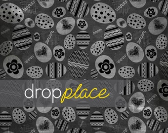 Floor Easter & Spring Drops Easter Eggs Chalkboard Photo Background (Material and Size Options Available)