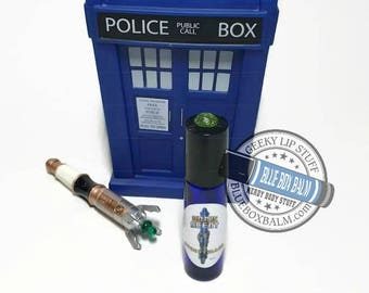 """Sonic Scent - STORYTELLER - """"Ashildr"""" Doctor Who Inspired Body Scent - A Fruity, Sweet, Musky Fragrance in a Blue Glass Roller Bottle"""