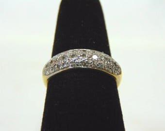 Womens Vintage Estate 14K Yellow Gold & Diamond Cluster Ring 4.0g E2984
