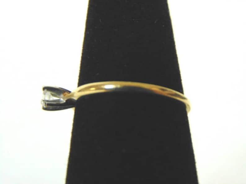 Solitaire Diamond Engagement Ring Unique Vintage Estate Women/'s 14K Yellow Gold 1.37g E1662