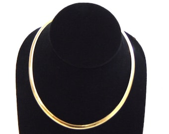 Womens Vintage Estate 14K Yellow Gold Italian Choker Necklace 37.3g E1883