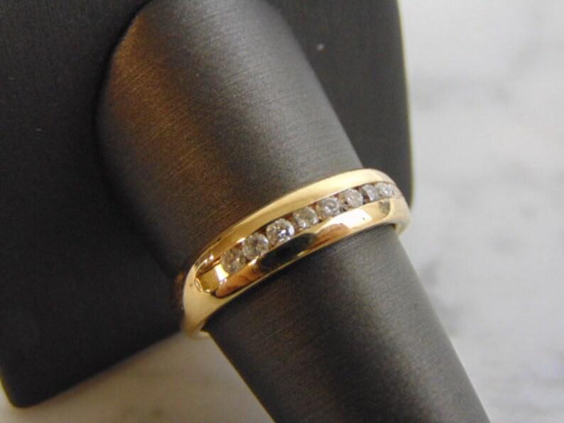 Mens Vintage Estate 14K Gold Diamond Ring 6 3g #E863