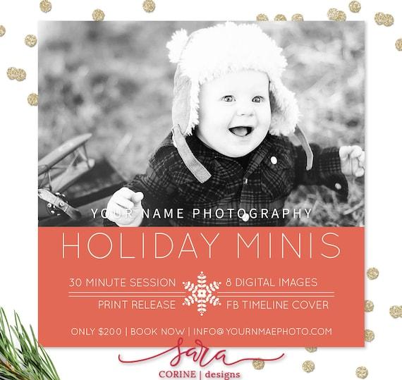 Christmas Mini Session Template Photography Marketing Etsy