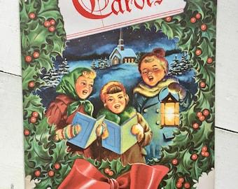 Vintage Christmas carols booklet
