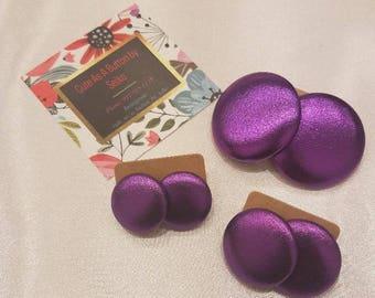 Purple Ranger Metallic Earrings